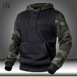 Winter Fleece Camouflage Hoodies Men's Military Tactical Pullover Hoody Sweatshirts Male Autumn Loose Camo Streetwear Sportswear