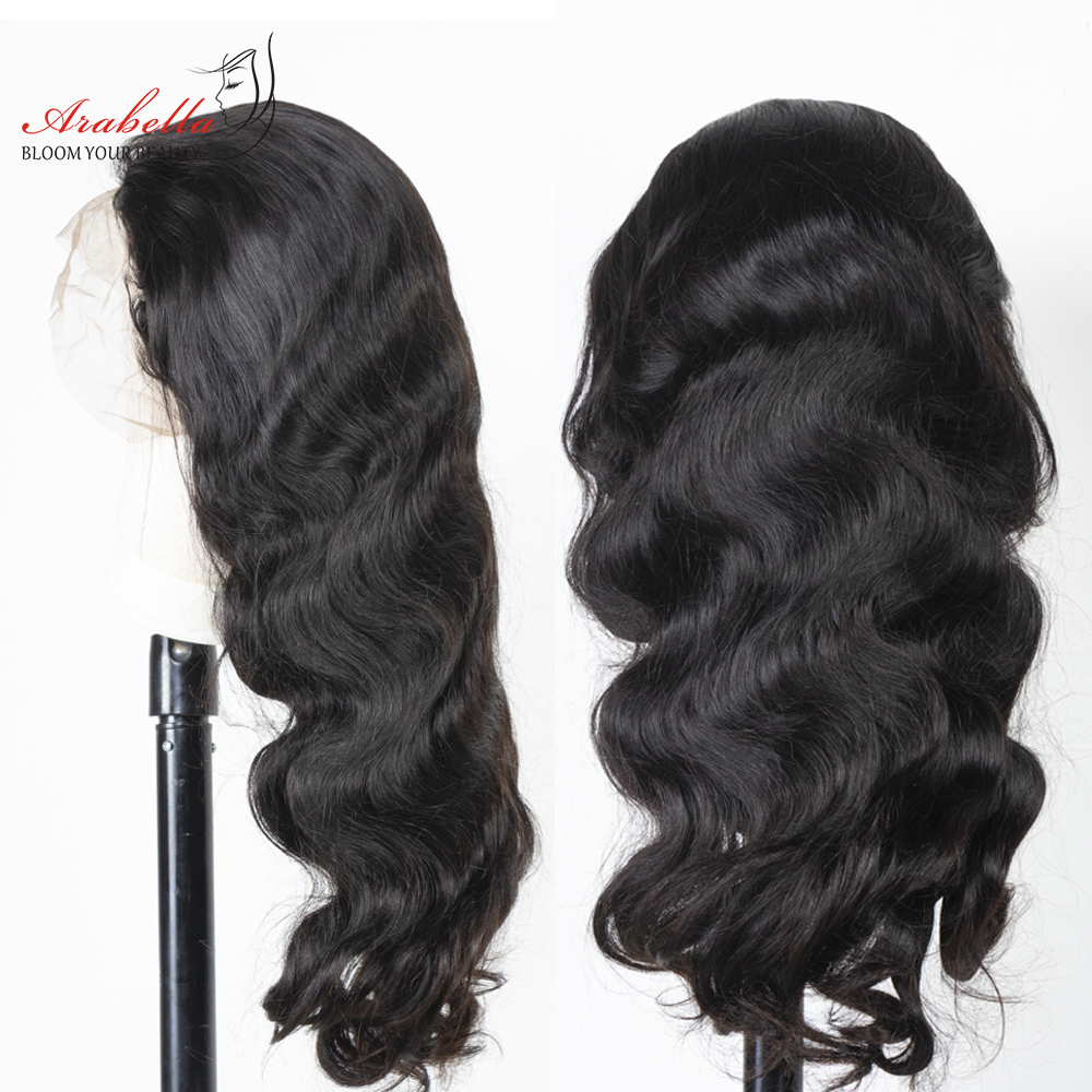 360 Lace Frontal Wig 100%  Wigs Body Wave Wig Pre Plucked  180% Density Arabella  Lace Front Wig 3