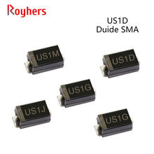50Pcs SMD Ultra Fast Recovery Rectifier Diode US2G US1M US1J US1G US1D US2J 1A 50V 100V 200V 400V 600V 800V 1000V SMA DO-214AC