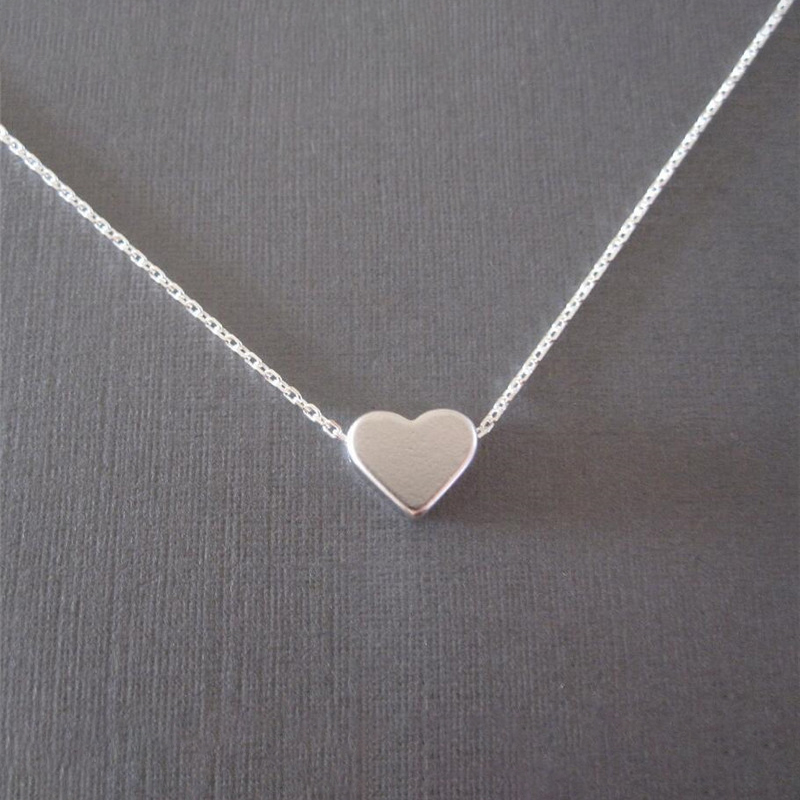 Simple-Trendy-Heart-Clavicle-Pendant-Necklace-For-Women-Female-Elegant-Gold-Chain-Necklaces-Ladies-Heart-Shaped (2)