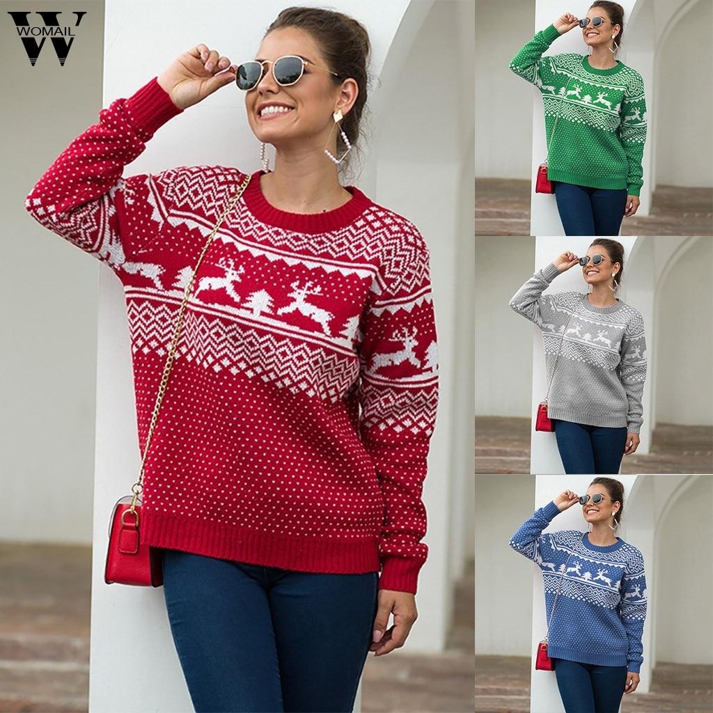 Womail Knit Sweater Women Winter Warm Sweater Jumper Korean Sweater Knitwear Christmas Fashion Femme Elasticity Pullover 916