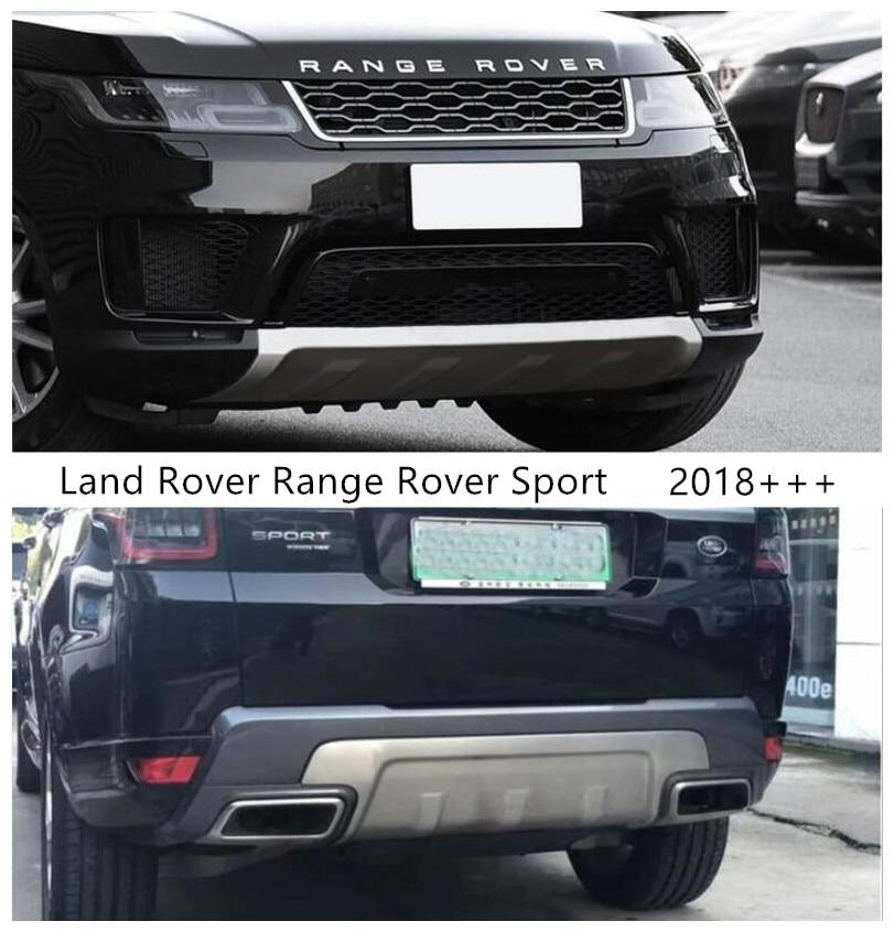 Dianteiro & traseiro pára-choques guarda placa para land rover range rover sport 2018-2021 protetor anti-impacto acessórios de aço inoxidável