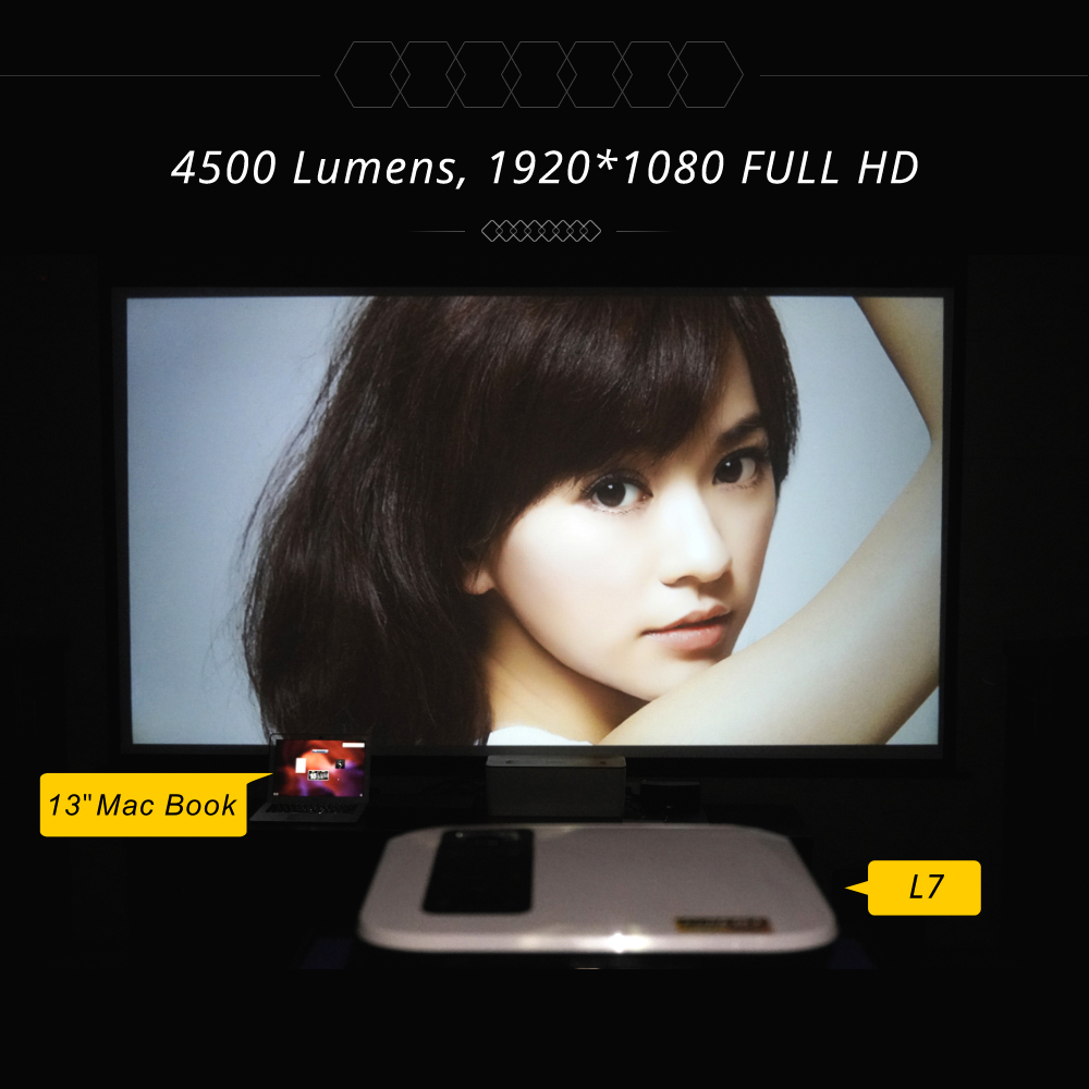 Image 5 - Touyinger L7 LED Native 1080P Projector 4500 Lumens full HD beamer Video Android 7.1 wifi AC3 Bluetooth Home cinema HDMI-in LCD Projectors from Consumer Electronics