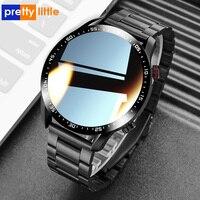 Reloj inteligente E-12 para hombre, dispositivo resistente al agua con llamadas, Bluetooth, Dial personalizado, pantalla completamente táctil, para Android e IOS, seguidor de actividad/deporte