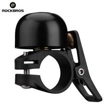 Rockbros Aluminium zwykły klasyczny dzwonek do kierownicy pierścień rowerowy rower dźwięk dzwonka MTB Road klakson rowerowy akcesoria rowerowe tanie tanio Ordinary Bell CN (pochodzenie) 2018-1A Black gold sliver ROCKBROS bicycle bell for bike horn kids bike accessories