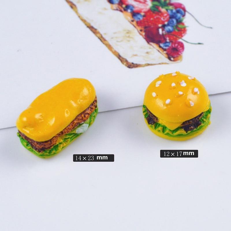 1pcs 1/6 1/12 Scale Mini hamburger for Barbie Blyth Licca Kurhn Doll Accessories Kitchen Toys cute Dollhouse Miniature Food Play