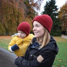 Европейские и американские модели осенне-зимние шапки родитель-Детские шапки толстый теплый шерстяной свитер шапки универсальная вязаная шапка