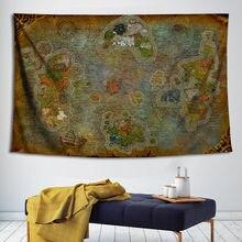 Mundo de warcraft nostálgico mapa cartaz tapeçaria decorativa pintura da parede arte da lona quadros de parede para sala estar