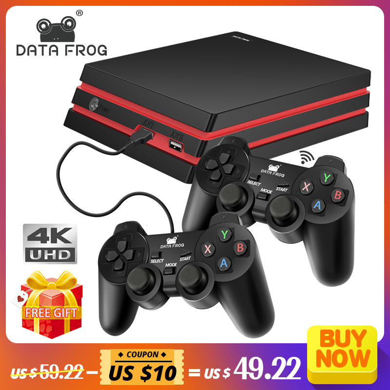 DATA FROG Game Console With 2.4G Wireless Controller HDMI Video Game Console 600 Classic Games For GBA Family TV Retro Game|Video Game Consoles| |  - title=