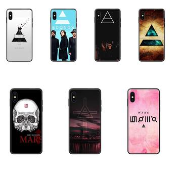 30 Seconds To Mars Clouds Dark Grunge Hipster Indie TPU For Samsung Galaxy S20 S10e S10 S9 S8 S7 S6 S5 edge Lite Plus Ultra image