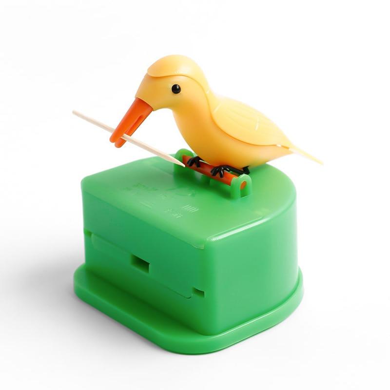 Cute Hummingbird Toothpick Dispenser Automatic Bird Toothpick Box HOT