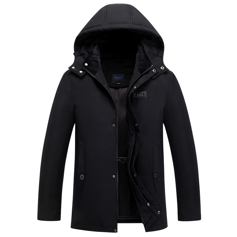 2019 Brand Winter Parkas Men Coat Hooded Thicken Removable Liner Plus Size 4XL Warm Winter Down Jacket Middle-aged Men Overcoat