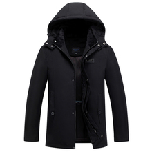 2019 Brand Winter Parkas Men Coat Hooded Thicken Removable Liner Plus Size 4XL Warm Down Jacket Middle-aged Overcoat