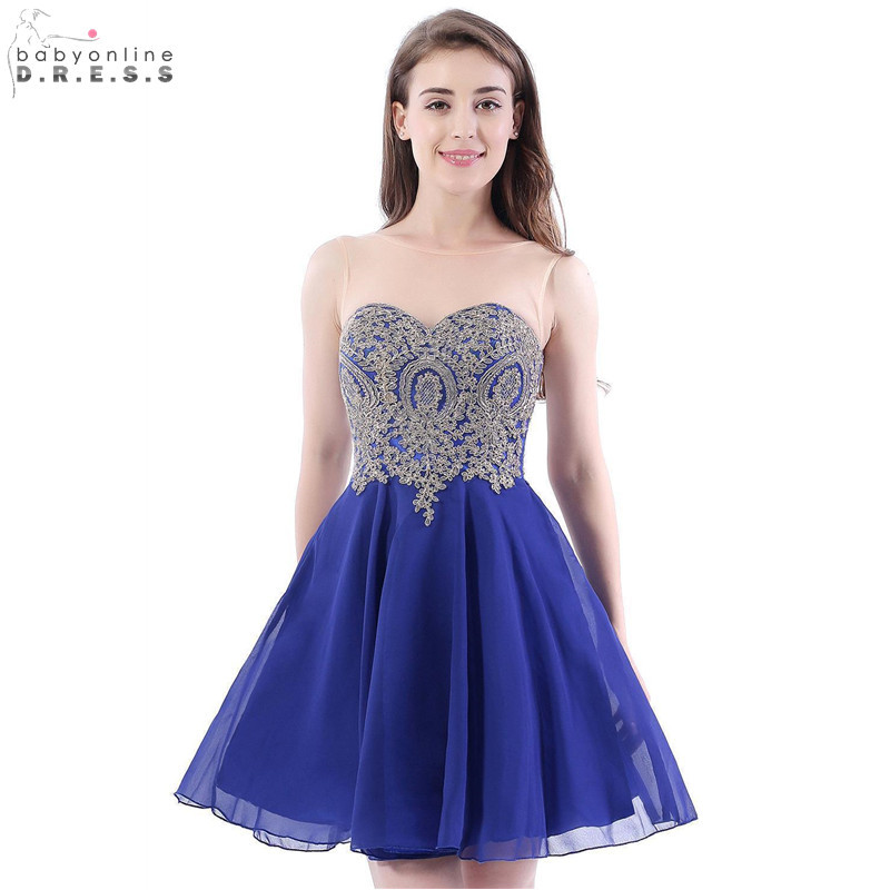In Stock Sexy Backless Lace Short Cocktail Dresses New Royal Blue Mini Party Dresses Draped Vestidos Coctel Robe De Cocktail