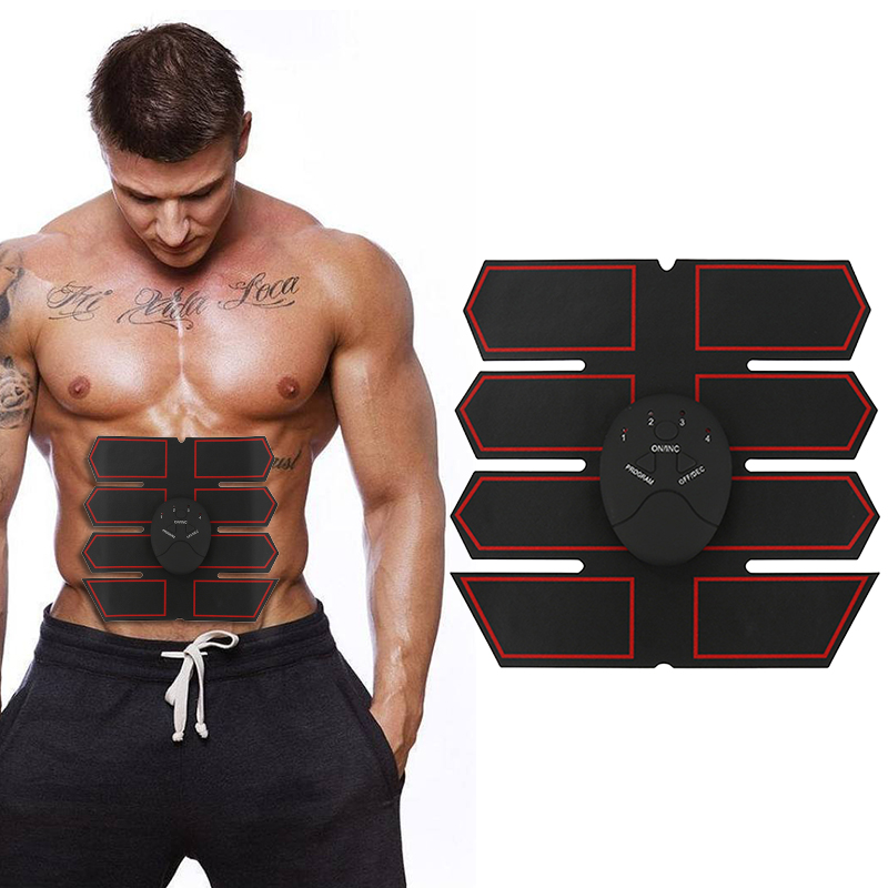 Smart EMS Stimulator Trainer Fitness Gear Muscle Abdominal Muscle Exerciser Toning Belt Battery ABS Muscles Training Ab Rollers