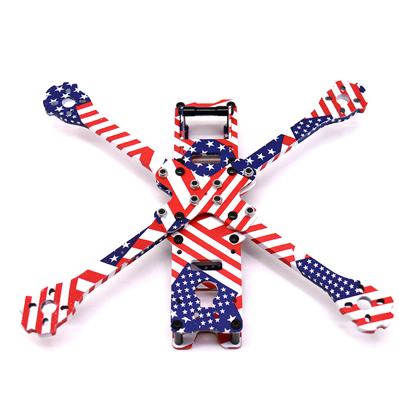 Image 3 - TCMMRC 5 Inch FPV Drone Frame X220HV Star Spangled Banner Printed Frame Kit Wheelbase 220mm Carbon Fiber For FPV Racing Drone-in Parts & Accessories from Toys & Hobbies
