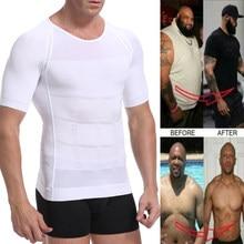 Camiseta de compresión de ginecomastia para hombre, Corrector postural, ropa interior correctora adelgazante