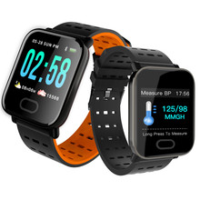 A6 Smart Watch with Heart Rate Monitor Fitness Tracker Blood Pressure Bracelet Smartwatch Waterproof For Android IOS PK Q8 V6 S9(China)