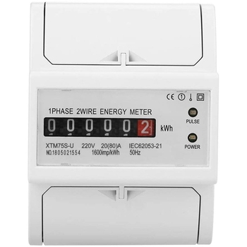 Medidor Digital monofásico de 2 cables de 220V DIN-Rail KWh medidor eléctrico 4P XTM75S-U (20(80) A)