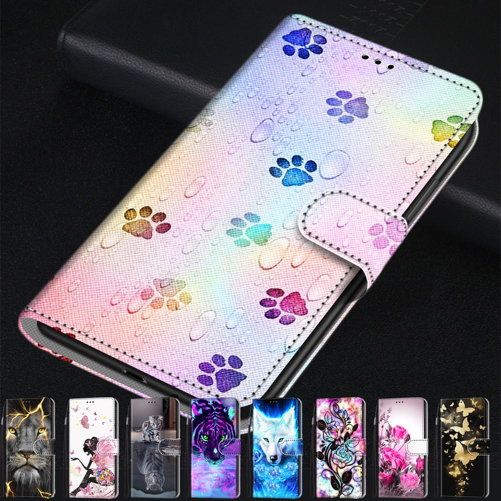 Fashion Cartoon Animal Flower Leather Phone Case For Samsung Grand Prime G530 J1 2016 J2 Core Cover Wallet Book Style image