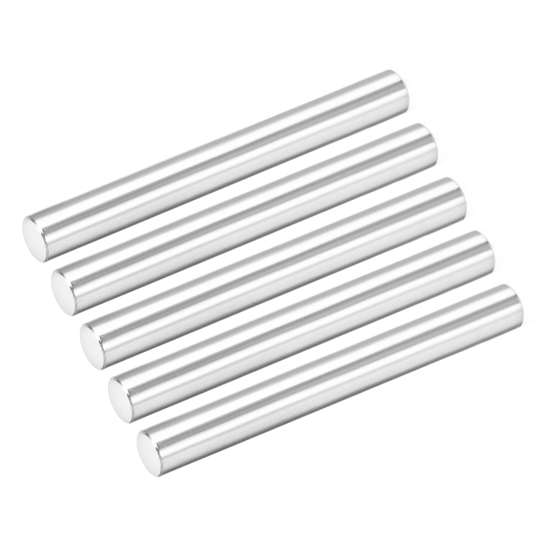 Uxcell 5Pcs 6mm X 55mm Dowel Pin 304 Stainless Steel Cylindrical Shelf Support Pin