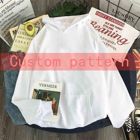 Hoodies oversized print Kangaroo Pocket Sweatshirts Hooded Harajuku Spring Casual Vintage Korean Pullovers Women sweetshirts 13