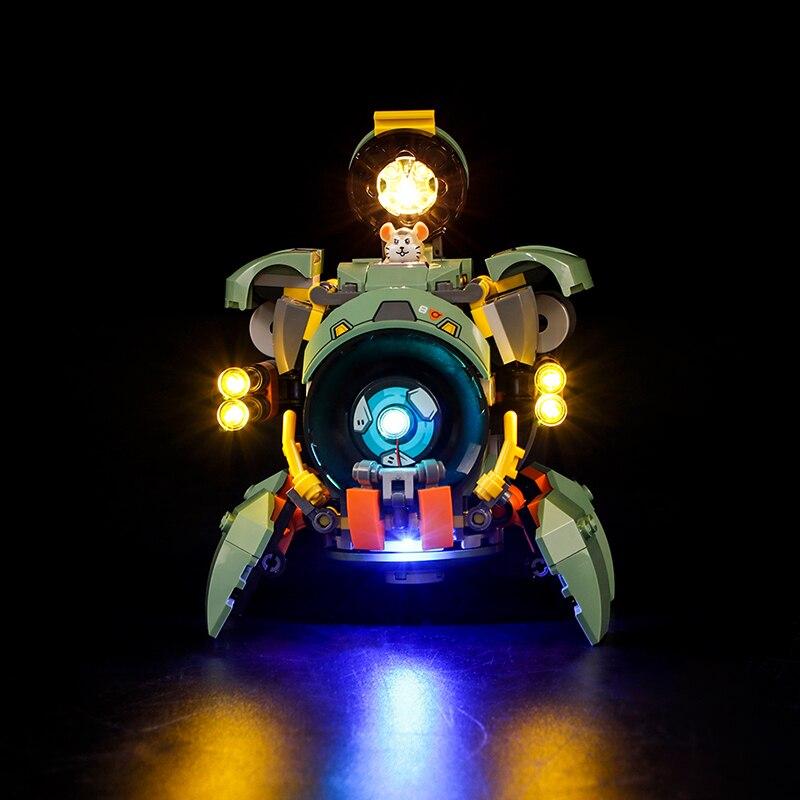 LED Lighting Kit For Wrecking Ball Overwatch 75976 Light Set Building Kit(NOT Included LEGO Set)