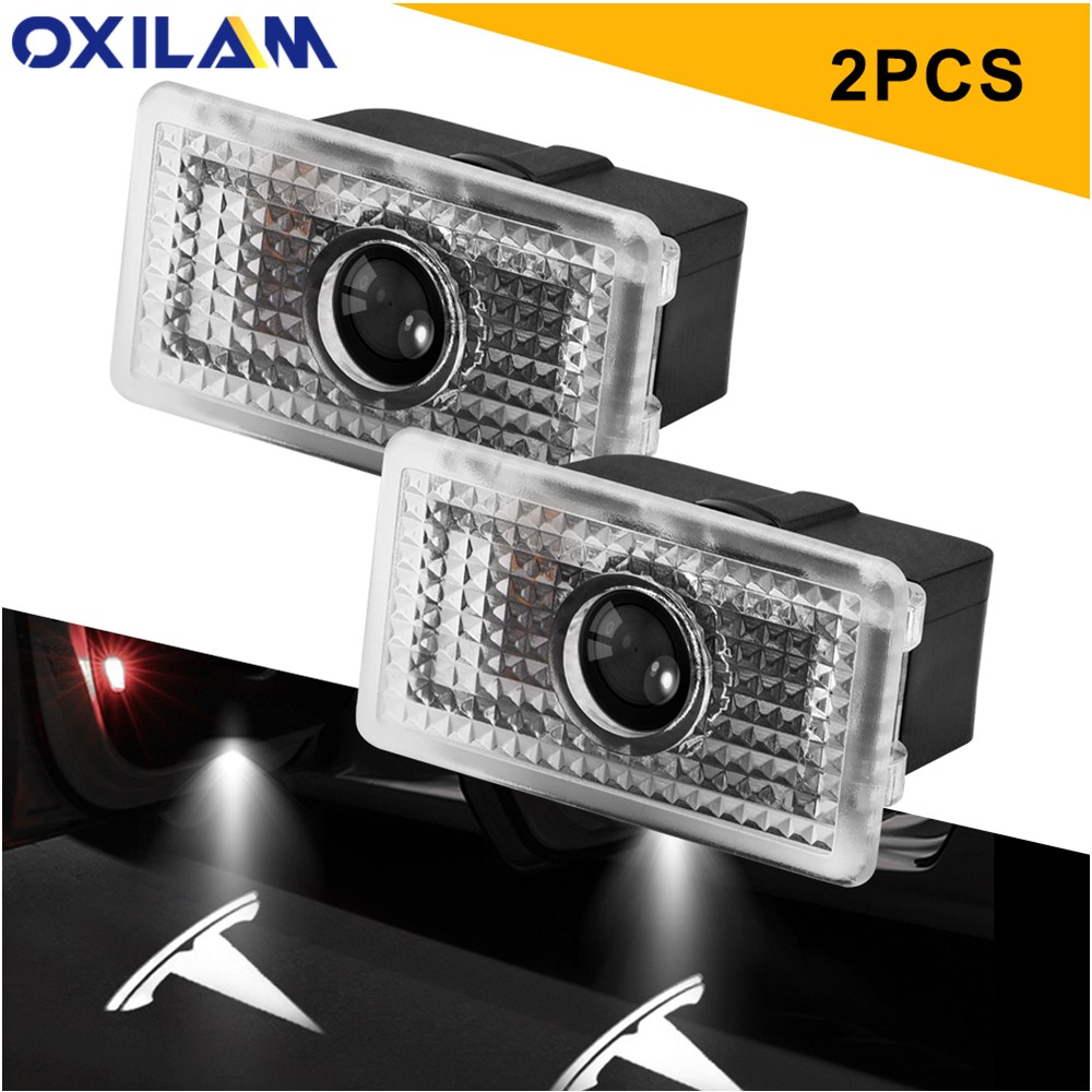 2pcs Led Car Door Logo Laser Projector Light for Tesla Model S Model 3 Model X Led Ghost Shadow Lamp Auto Accessories