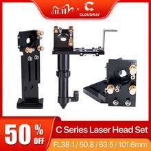Cloudray CO2 Laser Kopf Set Objektiv D18 FL 38,1 D20FL50.8/63.5/101,6mm Integrative Montieren Dia25 Spiegel für laser Schneiden Maschine