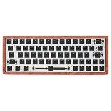 Gk64 gk64x печатная плата, механическая клавиатура, rgb smd, переключатель, светодиоды, usb порт type c, может совпадать с большинством gh60, деревянный чехол с ЧПУ