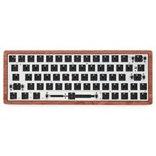 뜨거운 swappable gk64 gk64x pcb 주문 기계적인 키보드 rgb smd 스위치 leds 유형 c usb 항구는 대부분의 gh60 나무로되는 cnc 상자를 일치시킬 수있다