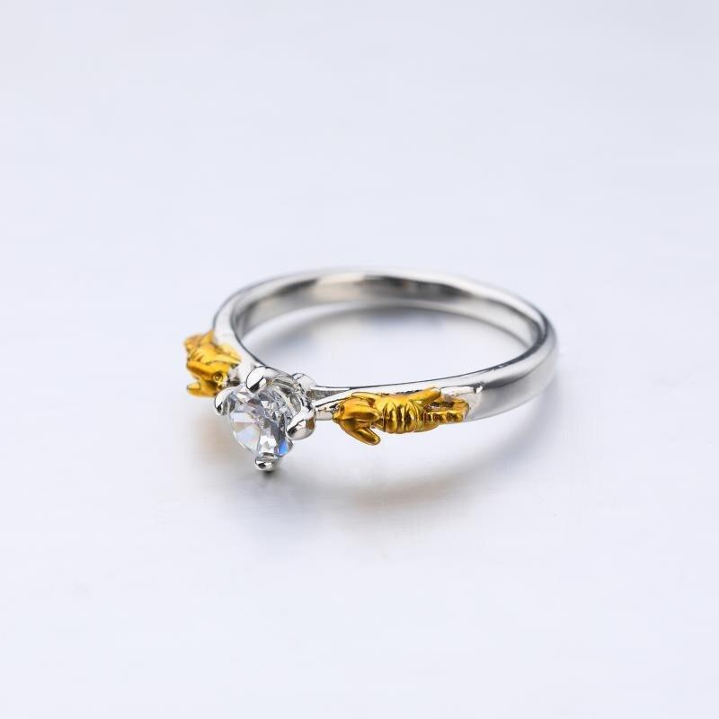 Anime Pokemon Pikachu Crystal Ring Cosplay Unisex Rings Jewelry Gift #6-#10