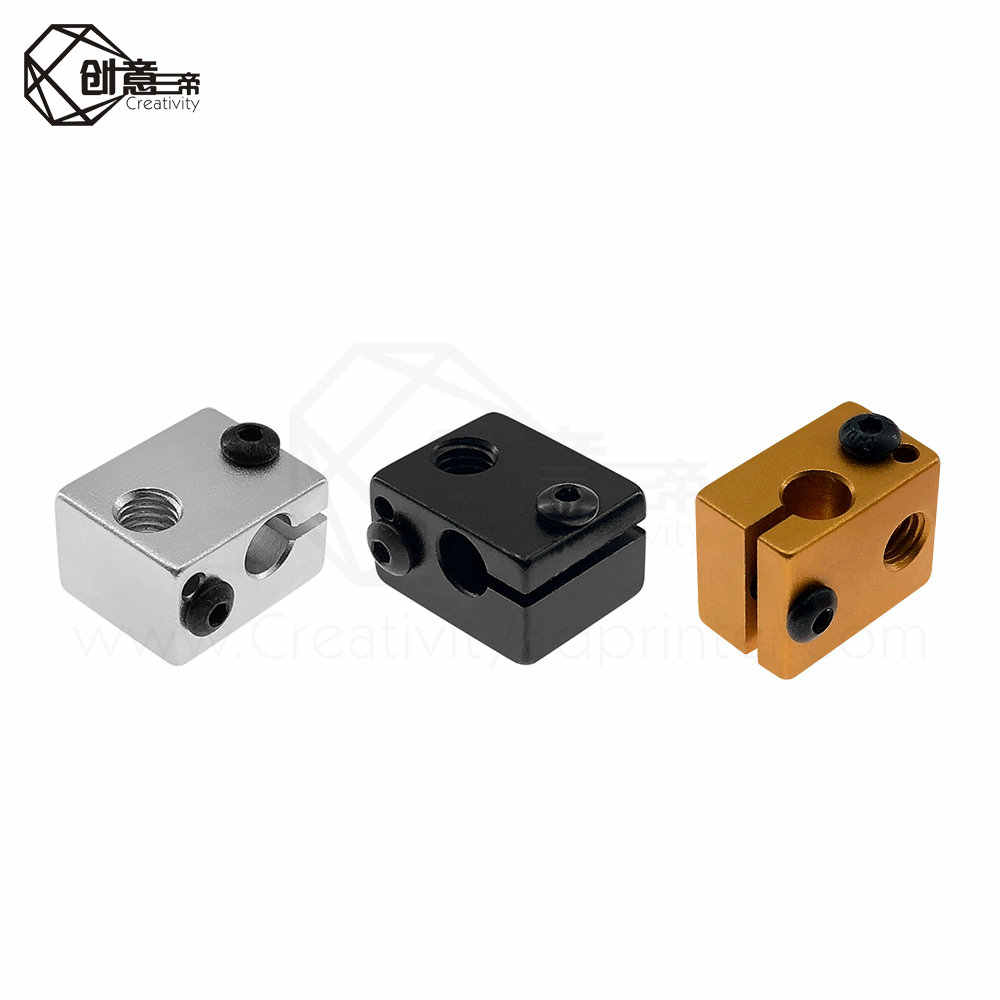 Aluminum Heater Heating Block For 3D Printer Accessories Heat 16*16*12mm V5