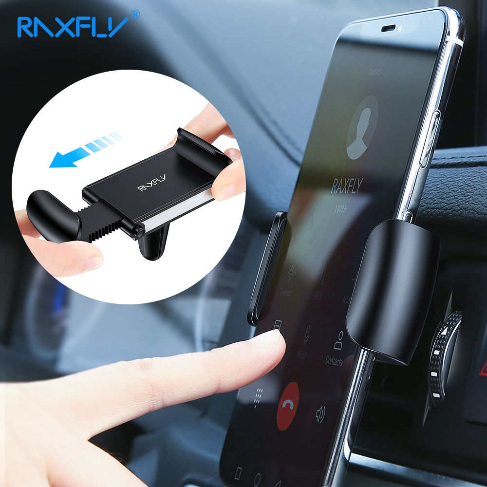 Автомобильный держатель для телефона RAXFLY, держатель с креплением на вентиляционное отверстие, подставка для сотового телефона, автомобиль...