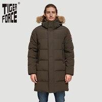 TIGER FORCE Alaska Jacket Men Winter Jacket Parka Men Alaska Coat Detachable Hooded Men'S Winter Coat Artificial Fur Thicken