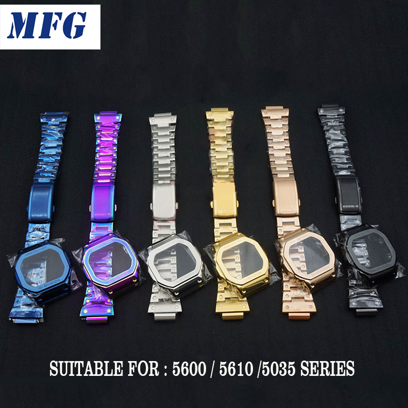 Stainless Steel Watch Bands Bezel DW5600 DW5610 GW5000 GW5600 Series Watchbands Bracelet Fit For Watch Wholesale 2019