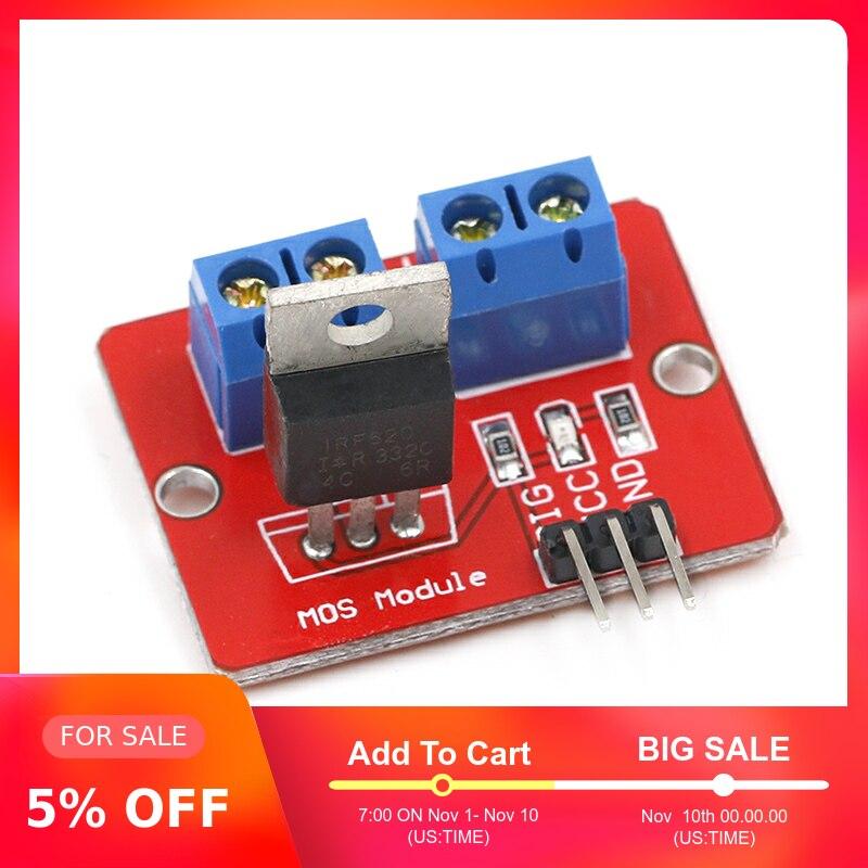 0-24V haut Mosfet bouton IRF520 MOS Module de pilote pour Arduino MCU bras framboise pi