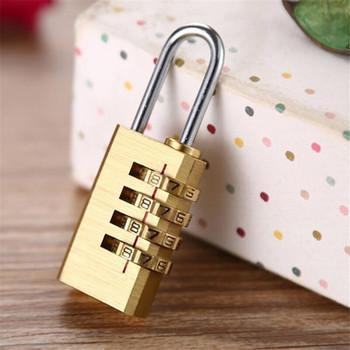 Blokada hasła złota blokada bezpieczeństwa walizka bagaż zamek szyfrowy szafka kuchenna szafka kłódka Mini mosiądz kombinacja cyfr blokada tanie i dobre opinie ISHOWTIENDA Kłódki Keyed Lock 6 2 X 2 3cm