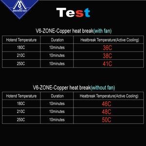Image 5 - まろやかなnf V6 Zone熱ブレーク銅 & 航空宇宙材料3Dプリンタノズルスロート1.75ミリメートルE3D V6 hotendためのヒーターブロック