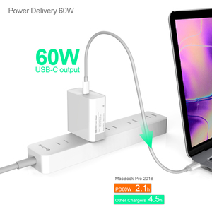 Image 3 - USB C Power Adapter PD/QC3.0 65W/60W/45W/30W TYPE C Wall Charger,For USB C Laptops/MacBook/iPad/xiaomi/Samsung (USB C cable)