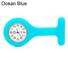 Силикон Медсестра часы брошь кармашек для часов Туника часы с кварцевым механизмом часы Новые