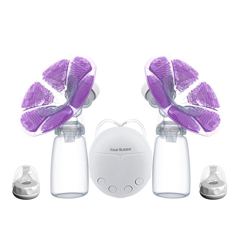 Double Electric Breast Pumps Electric USB Powerful Nipple Suction With Baby Feeding Milk Bottle Cold Heat Pad Nipples BPA Free