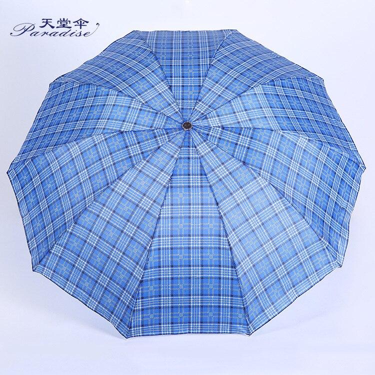 2019 Tiantang Umbrella Monopoly Tiantang Umbrella J Extra-large All-Weather Umbrella 10 Root Bone Folding Umbrella Wholesale Man