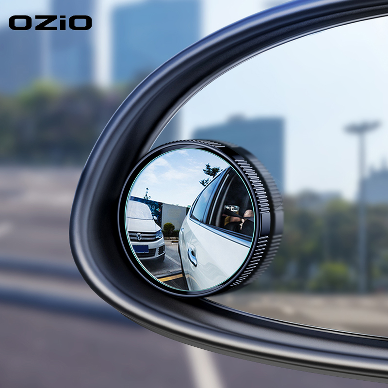 2pc Car Rearview Sucker Mirrors 360° Rotating Car Small Round Mirror Rearview Mirror Car With Large Field View Mirror Blind Spot