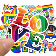 50pcs/set Rainbow Sexy Graffiti Stickers for Gay LGBT Pride Decor Sticker on Laptop Car Phone Refrigerator Skateboard Motorcycle