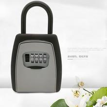 Key Storage Lock Box Safe Keys Padlock Use Password Alloy Material Hook Security Organizer Boxes