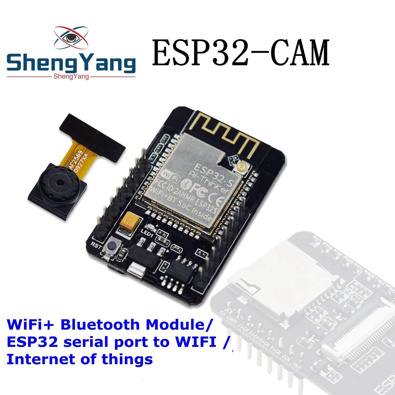 Завеса ESP32-CAM WiFi + Bluetooth модуль Камера модуль макетная плата ESP32 с Камера модуль OV2640 2MP для Arduino