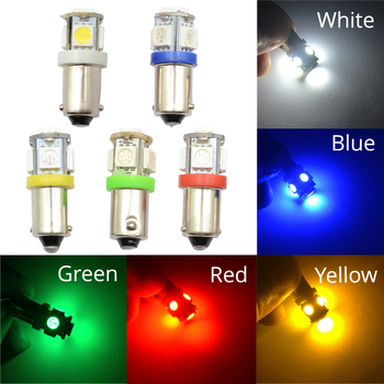 цена на CAR Led Door Lights Ba9s 5Smd 5050 T4W White Red Green Blue 182 145 Car Marker Lamps Auto Led Tower Bulb Tail Light Wedge Lamp