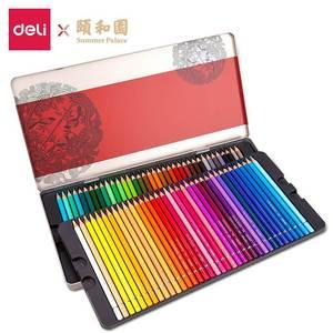 Image 5 - Deli Summer Palace Series 68126 Colored Pencils Colored Pencils 36/48/72 Color Painted Pencils Quality Metal Box