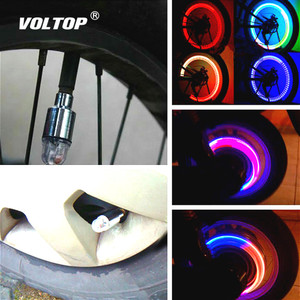 Image 1 - Valve Light Car Tire Decoration Accessories Interior Ornaments Universal Bicycle Motorcycle American Nozzle Vibration Sensor